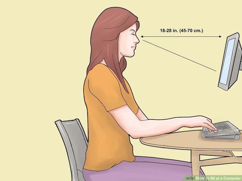 jarak mata dengan monitor