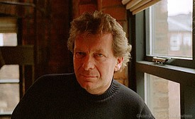 Tony Wilson photographed at his home 1998