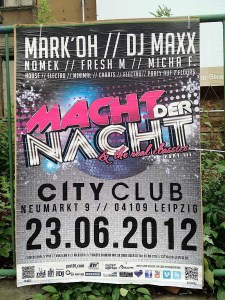 Leipzig signs: City Club: Might of the Night