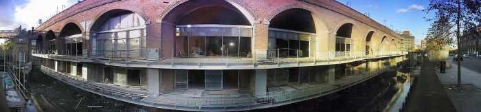 Deansgate Locks under construction 1999
