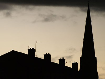 St Matthews Spire, Edgeley, and rooftops