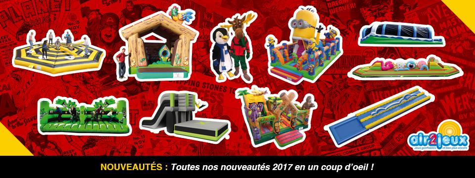 Air2Jeux - Jeux Gonflables - Découvrez les Nouveautés 2017
