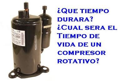 Tiempo de vida de un compresor rotativo aires acondicionados for Temperatura de salida de aire acondicionado split