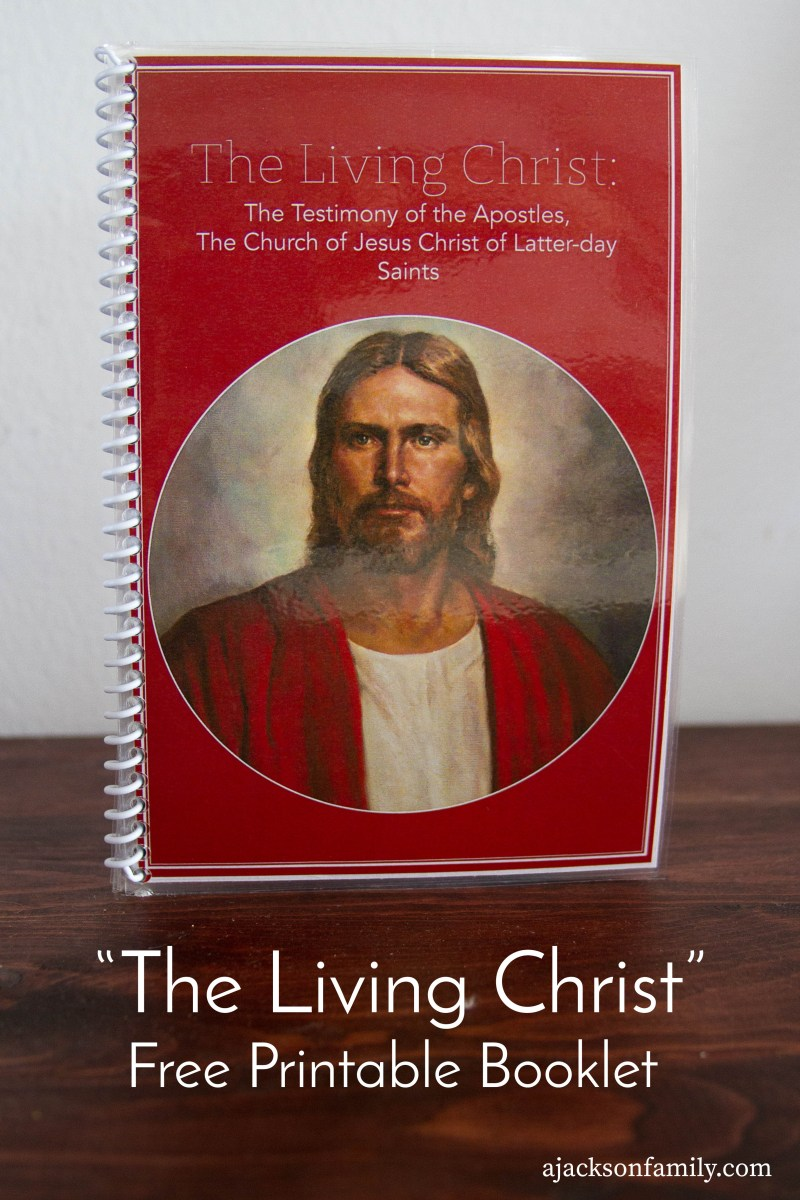 "UPDATE: ""The Living Christ"" free printable BOOKLET"
