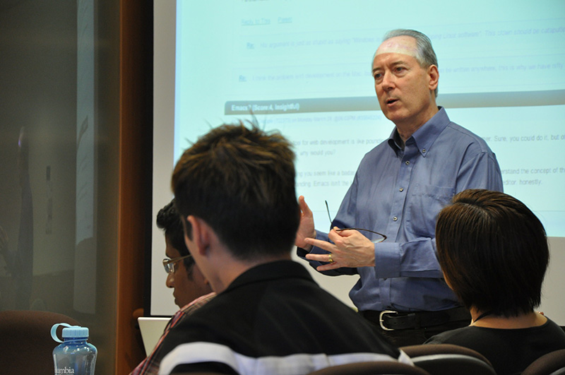 New media guru Dan Gillmor's workshop, 2011.