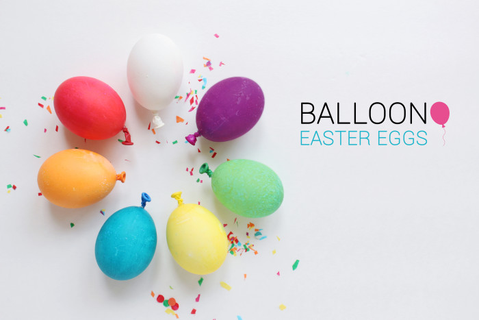 Balloon easter eggs | A Joyful Riot