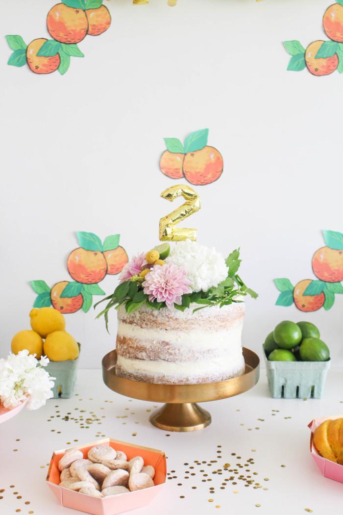 Vintage Citrus Floral Birthday Party via ajoyfulriot.com-2