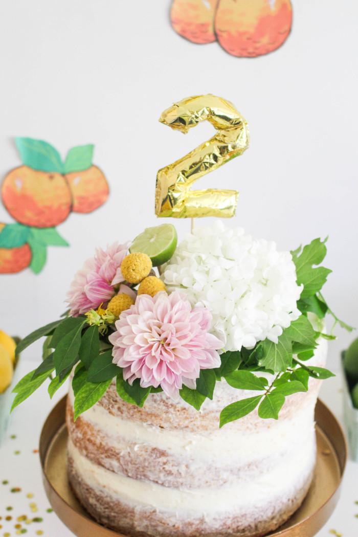 Vintage Citrus Floral Birthday Party via ajoyfulriot.com-3