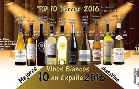 10 Mejores Vinos Blancos en España 2016 Guia Xtreme by akataVino web © 2016