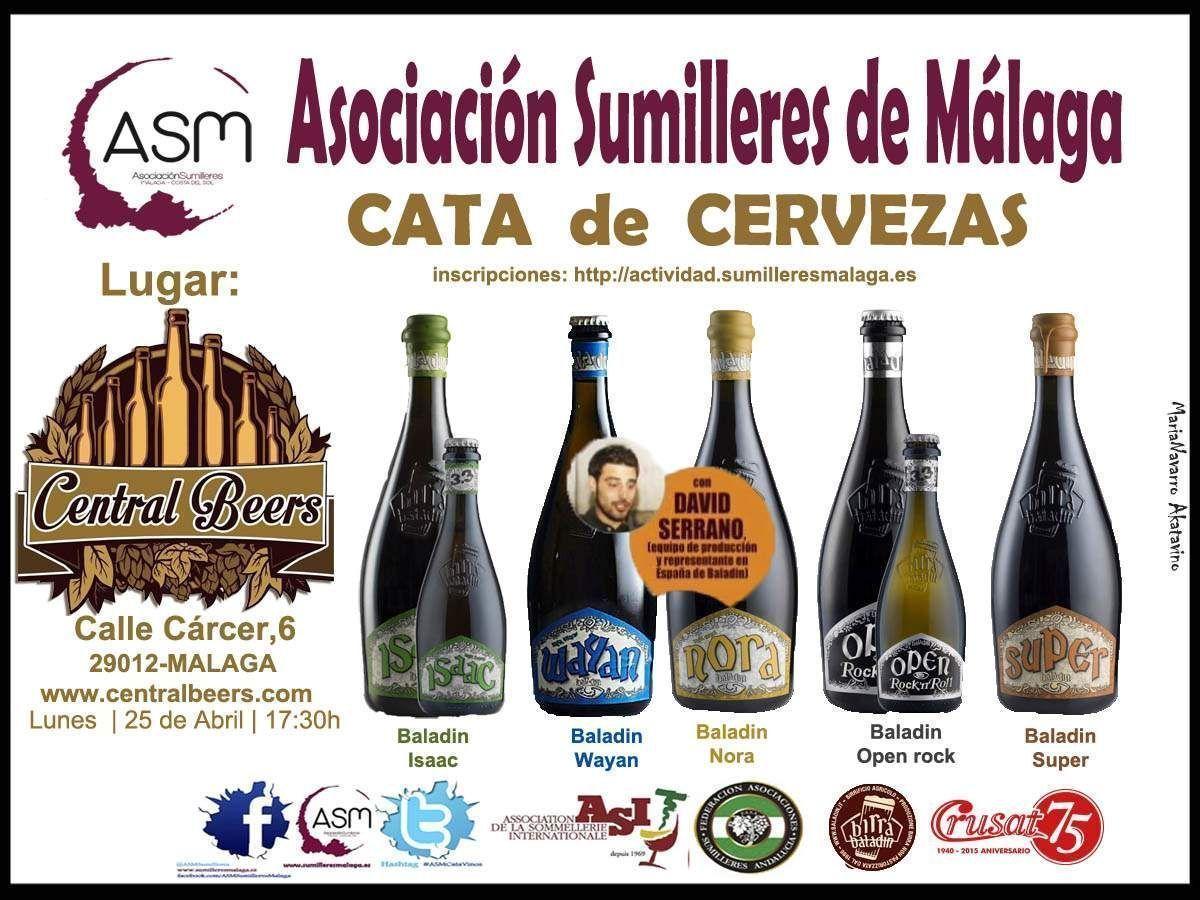 Cartel Evento Central Beers Cerveza ASM Sumilleres Malaga © akataVino 2016