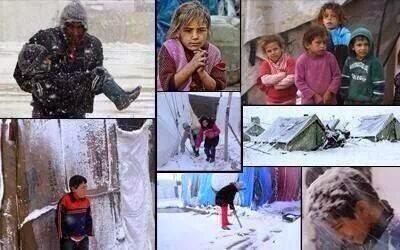 Satu Juta Pengungsi Suriah Diserang Badai Salju