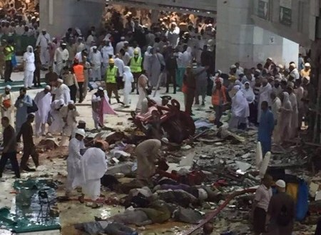 رابطة الانصار العالمية تعزي عائلات ضحايا سقوط رافعة بالحرم المكي