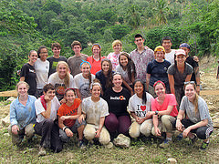 Members of BuildOn in Haiti this summer.  Photo courtesy of Ariel Moyal