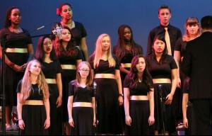 The choir performs at the Winter Concert. Photo by Stanley So