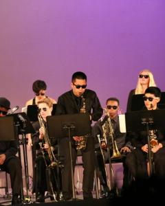 Jazz musicians were crowd pleasers at the Winter Concert. Photo by Stanley So