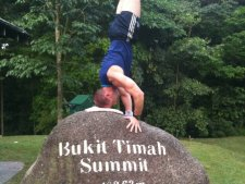 Axe on a Head stand Bukit Timah
