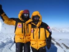 Mark and Leanna Shuttleworth on VInson's Summit