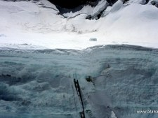 Western Cwm crevasses