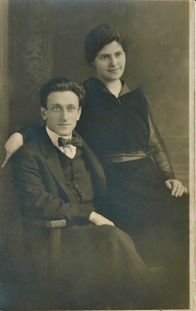 An early portrait of my mom's parents, Ida Nathanson and Louis Bisno