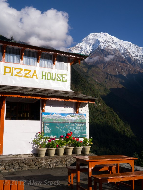 Two of my favourite things, pizza and the highest mountains in the world, together at last!