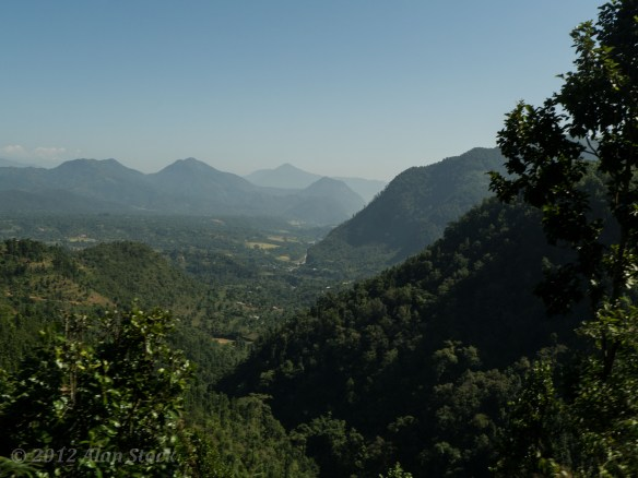 View from the bus on the way down from Bandipur