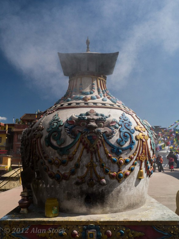 A huge incense burning urn