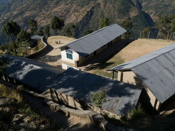 Looking down on Kormi Danda's school