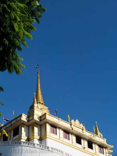 The hilltop temple Golden Mount (Wat Saket)
