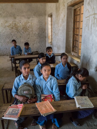 The village school which takes classes for a number of the surrounding villages
