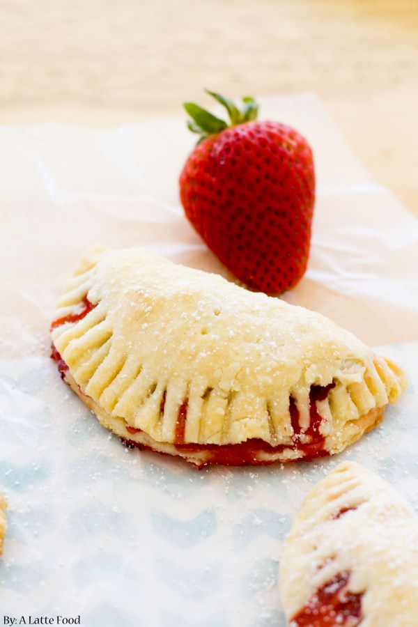 Strawberry Hand Pies   These mini pies are filled with sweet strawberry filling inside of a cream cheese crust   www.alattefood.com