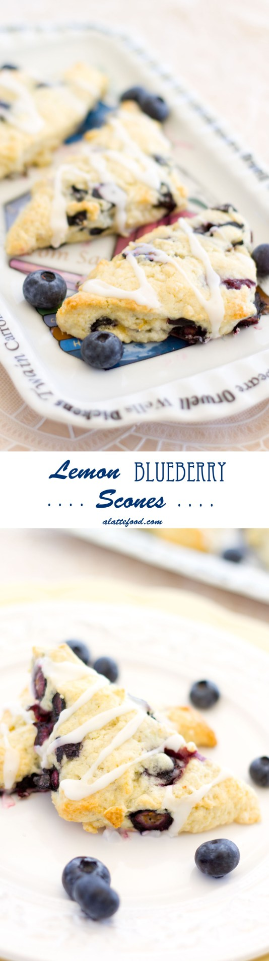 Lemon Blueberry Scones | A Latte Food