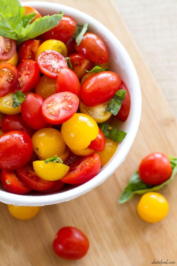 Fresh Tomato Basil Salad   A Latte Food