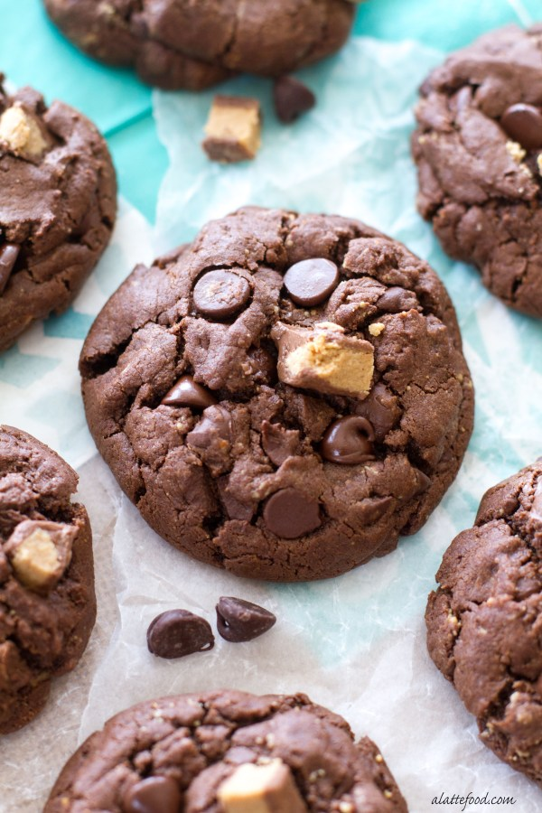 Double Chocolate Chip Reeses Cookies