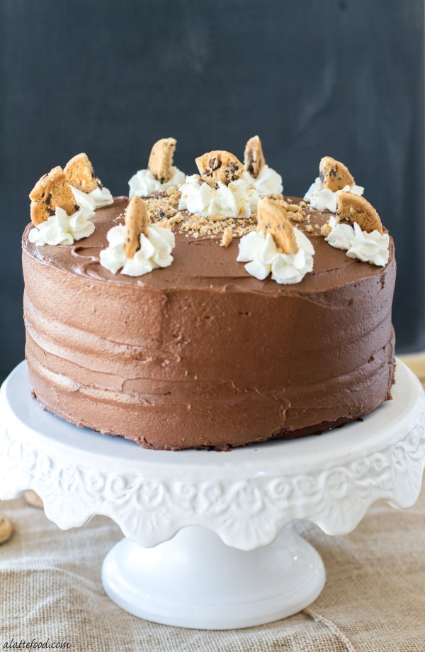 Double Chocolate Chip Cookie Cake