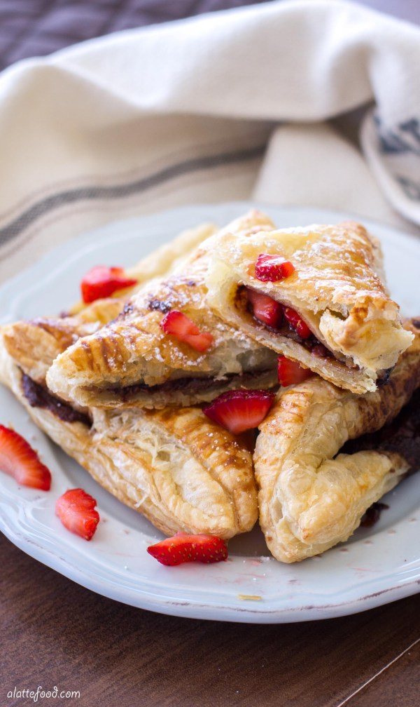 Strawberry Nutella Turnovers | A Latte Food
