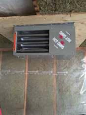 hydronic garage heater