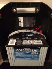 marine battery connected to backup service