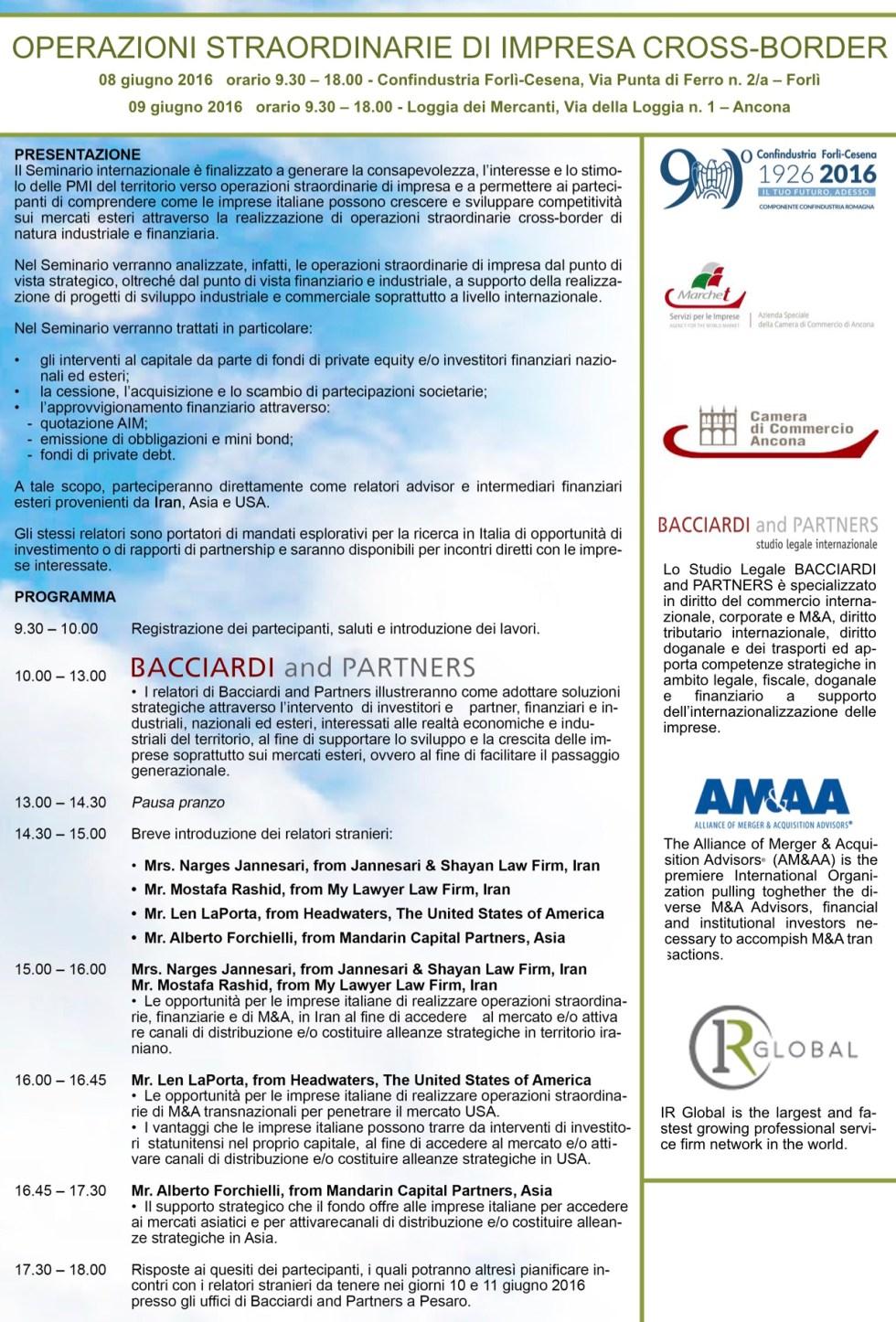 LOCANDINA Seminario 08-09.06.16 per social Dott. A. Forchielli (2)