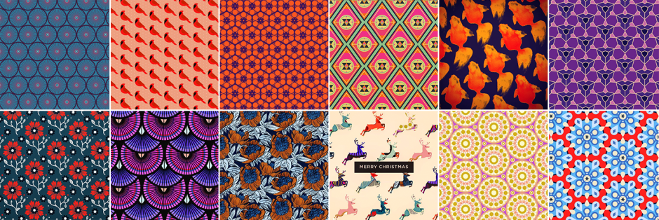patterns, pouches