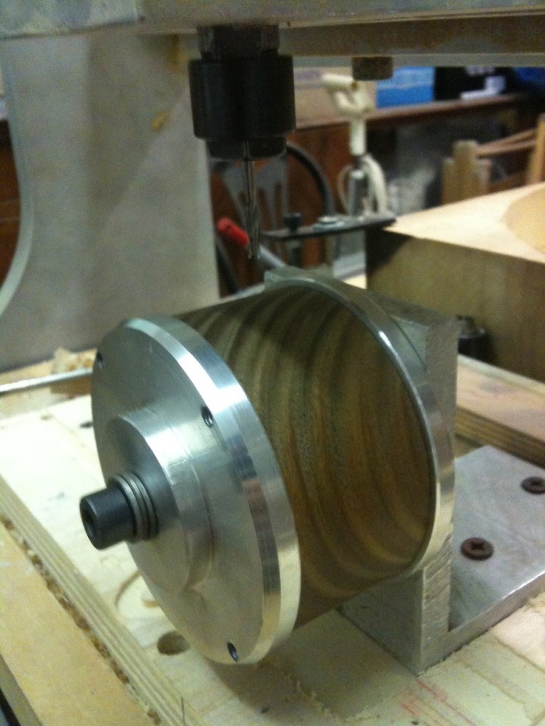 I had to make a custom jig to machine the cage with a 3 axis mill