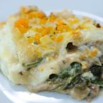 Wild mushroom, spinach and butternut lasagne