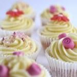 Deep pink cupcakes