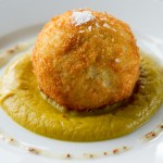 Smoked haddock scotch egg & curried cauliflour