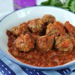 Meatballs in a rustic tomato sauce