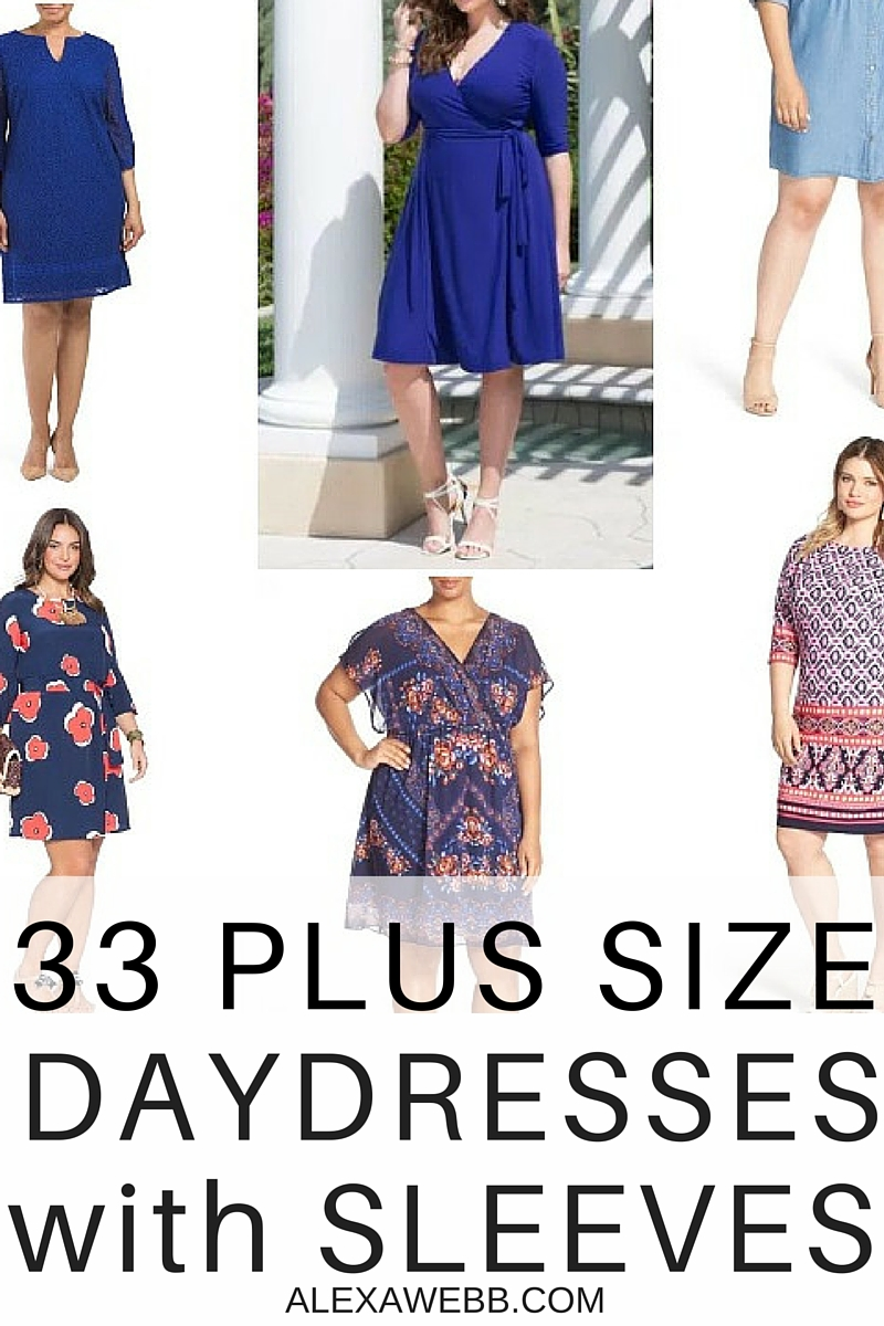 33 Plus Size Day Dresses {with Sleeves}