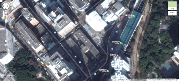 Tennis courts built on the roof of the Chai Wan MTR station. Image from Google Maps.
