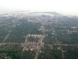 Aerial view of Toronto. CC image from rene_beignet.