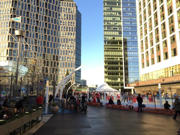 Pedestrian Plaza at Tysons Corner Center, programmed for Christmas activities. Photo by Alex Block.