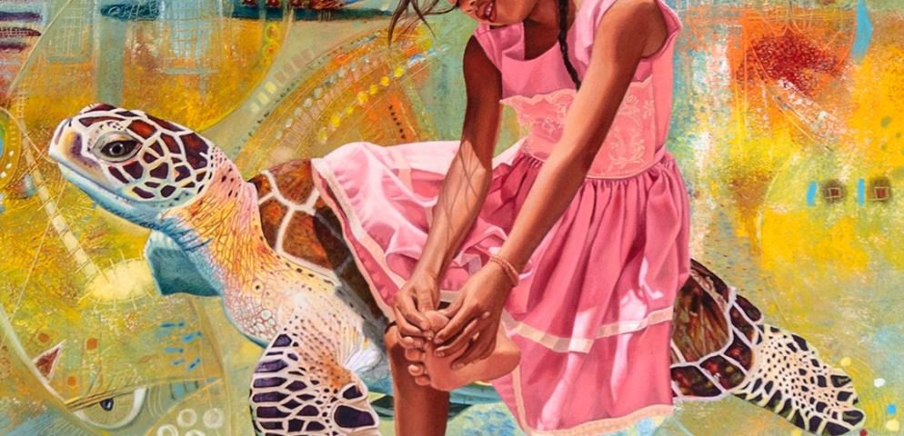 Pasajera en trance - detalle - Alex Cuchilla - El Salvador