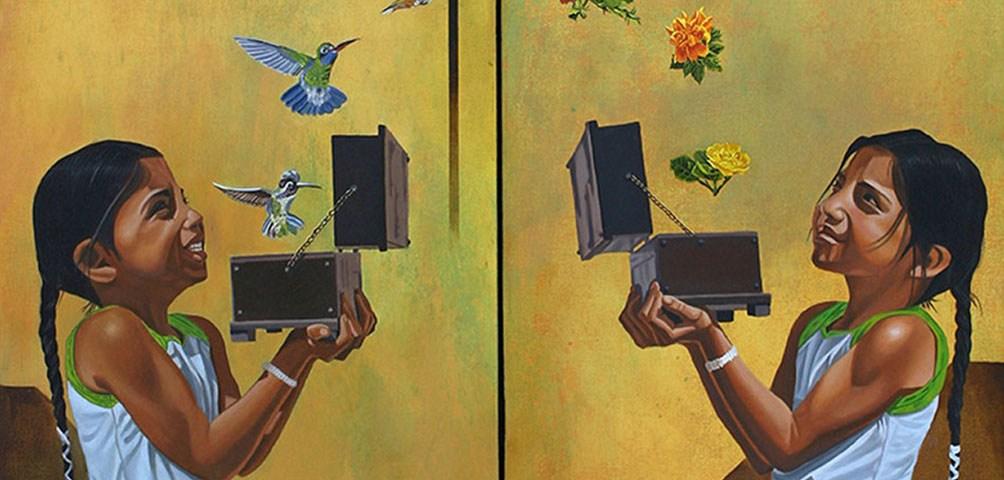 El arcoiris (Díptico) - Alex Cuchilla - El Salvador
